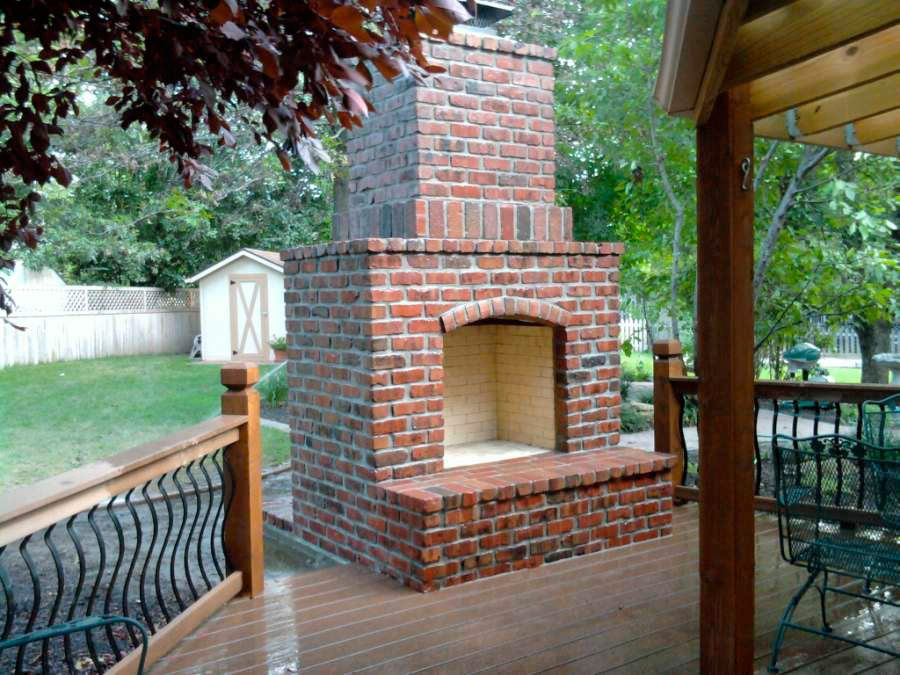 Gallery For > Outdoor Patio Brick Fireplace | Outdoor ... on Brick Outdoor Fireplace Ideas id=26493