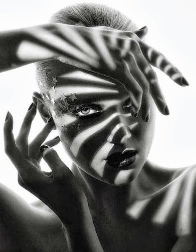 Inspiration for photo art black and white fashion photography love the shadow effect on this one