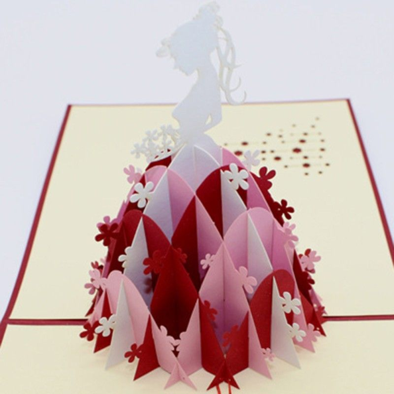 Wedding girl 3d laser cut pop up paper holiday handmade vintage post cheap greeting cards buy quality wedding greeting cards directly from china mothers day cards suppliers foldable beautiful girl decoupage paper carving m4hsunfo Gallery
