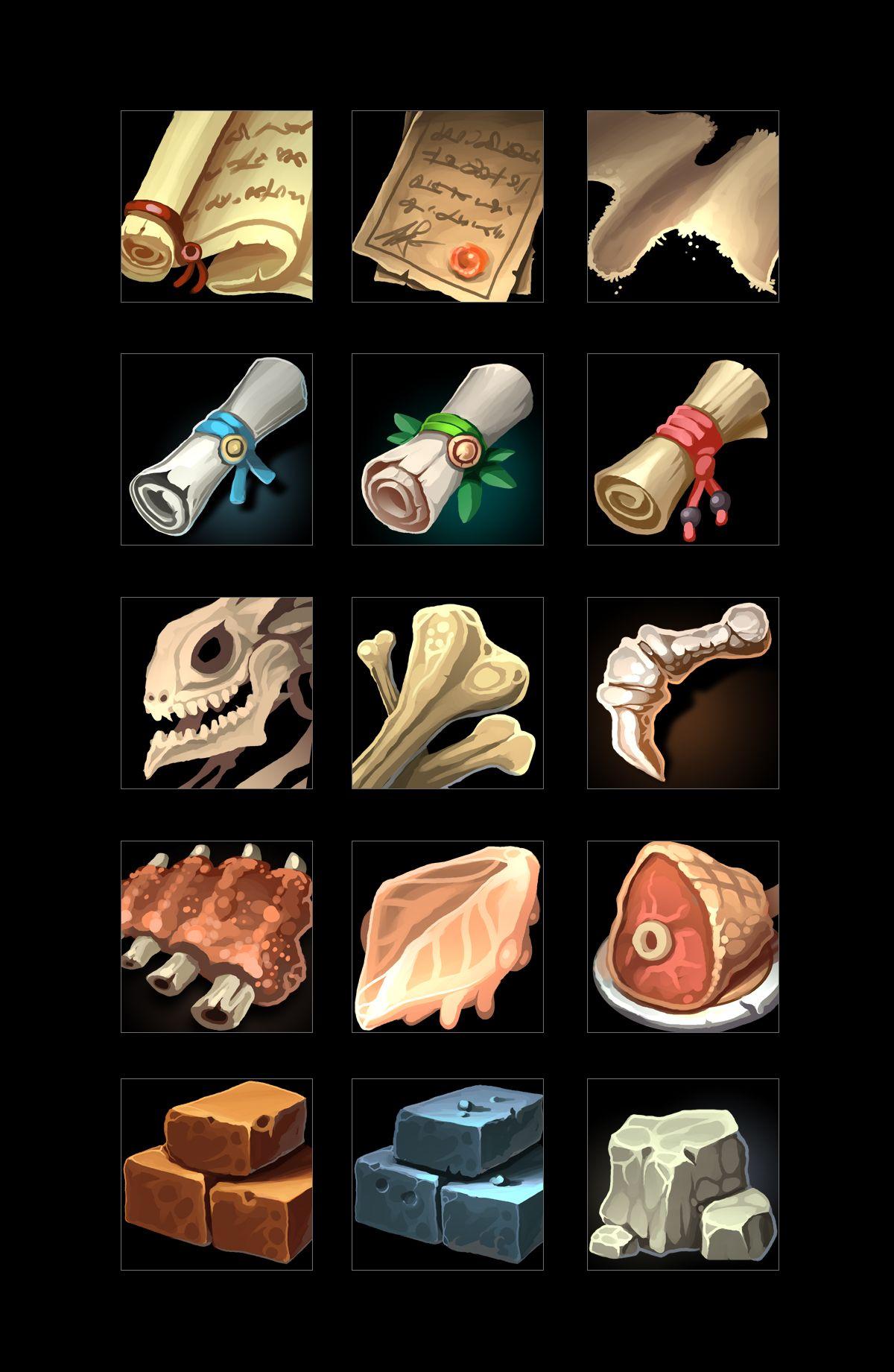 RPG Loot Icons 01 в 2020 г Иконки