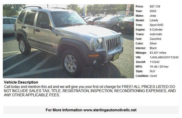 United Car Exchange Jeep Models Jeep Jeep Liberty