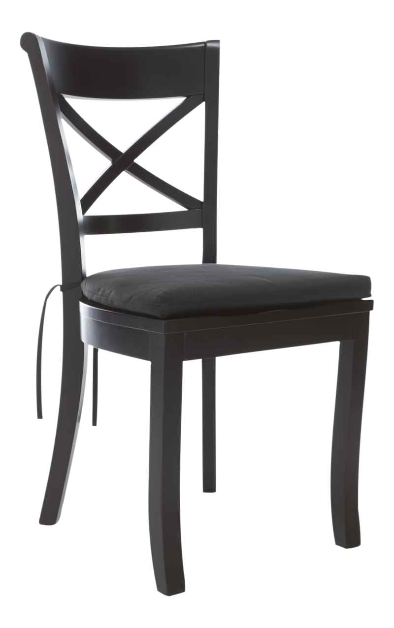 Vintner Black Wood Dining Chair And Cushion Crate And Barrel Dining Chairs Wood Dining Chairs Extension Dining Table