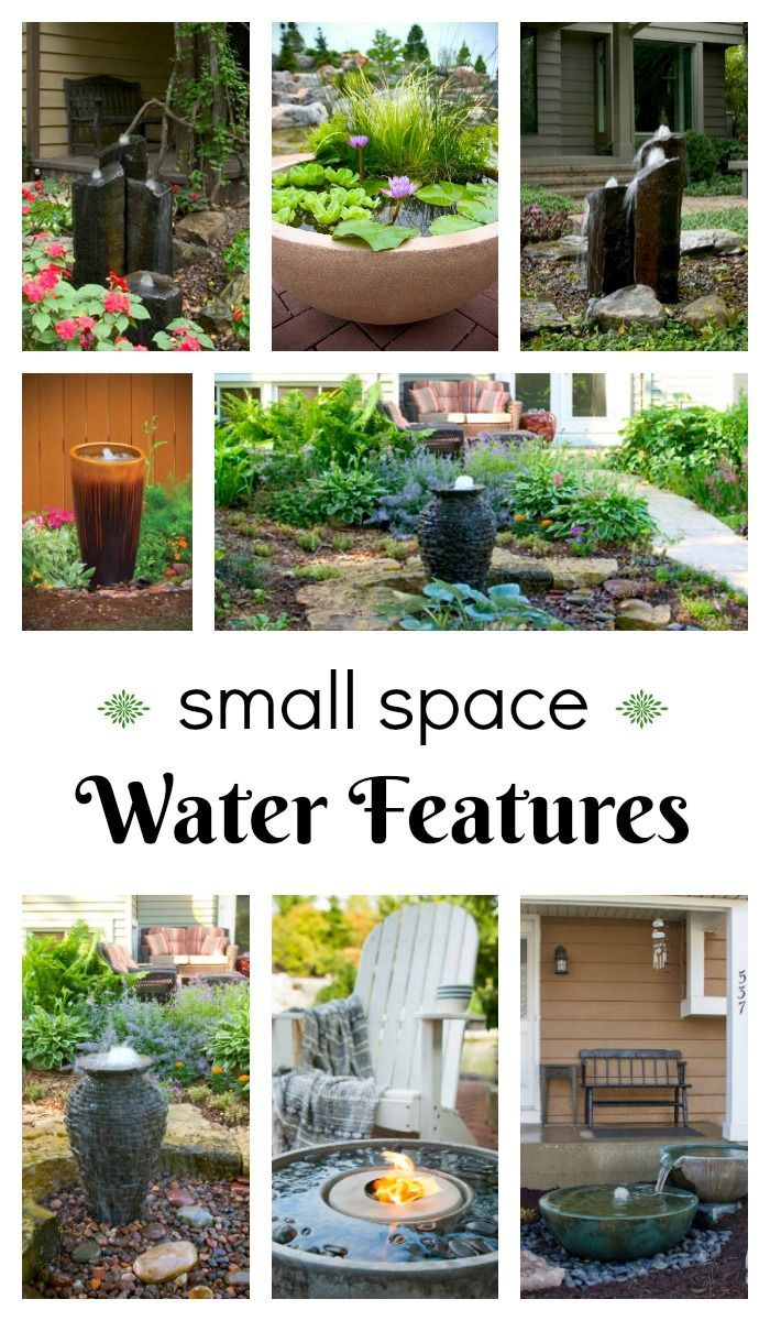 Landscape Ideas Small Space Water Features is part of garden Landscaping Water Features - Looking to spruce up your yard in 2017  When planning your options, consider a new water feature  Fountains and container water gardens are the perfect way to add a splash of water to your landscape  Affordable and easy to install, you'll find a va