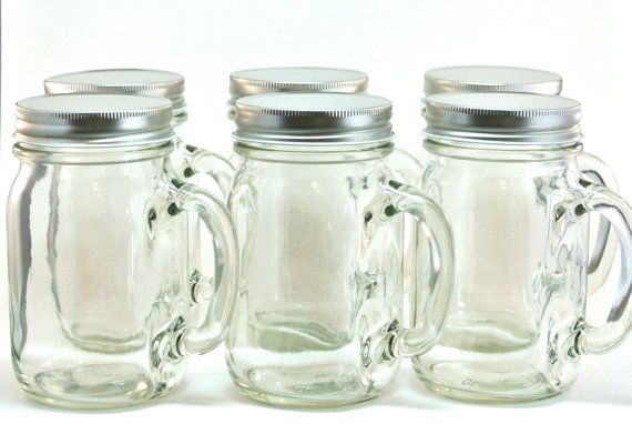 Hey I Found This Really Awesome Etsy Listing At Https Www Etsy Com Listing 175893588 12 Mason Jar Mugs 16 Mason Jars Mason Jar Mugs Mason Jars With Handles