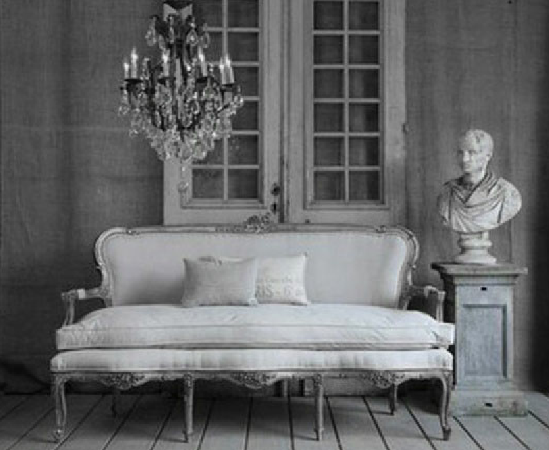 Dove Gray Home Decor French Grey Settee And Bust