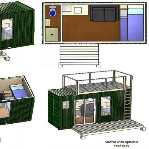Rustic Retreat Tiny Shipping Container Home Plans Maison