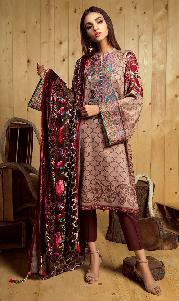 8adae8957d Stylish Grey 3 Piece Unstitched Pakistani dress Available By Orient Textile  Dresses 2018 #wintercollection #blackfriday #readytowear #pretwear  #unstitched ...