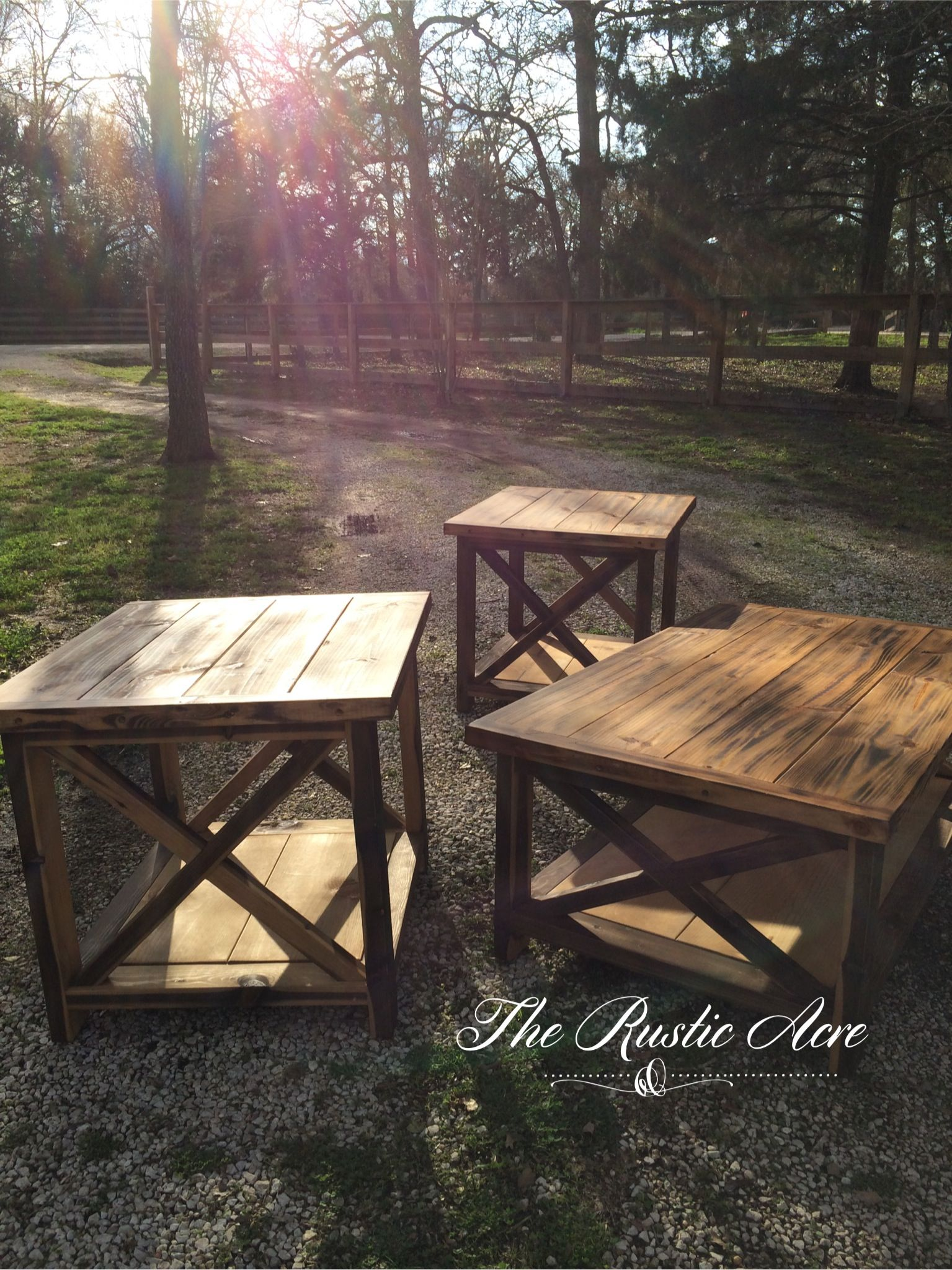 Custom Built Rustic X Bar Coffee Table Set. The Rustic Acre ~ College  Station,