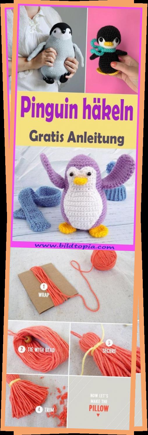 Photo of Hkeln Pinguin – Kostenlose DIY-Anleitung – Kleiner Balkon Ideen – Stricken Ist – Katie