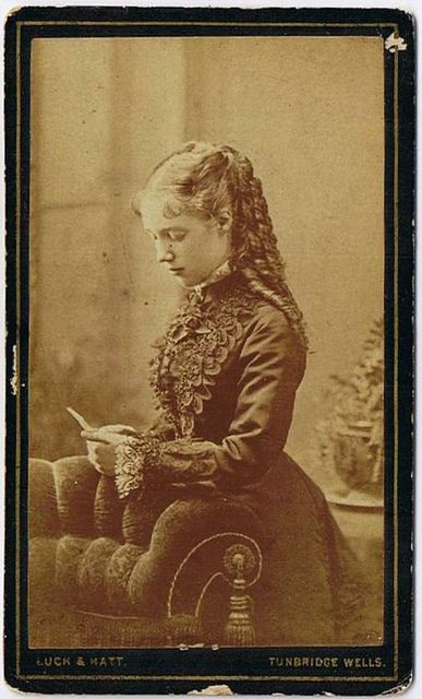 ca 1880 lovely young lady, how long did it take to fix