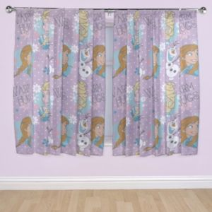 Frozen 2 Official Disney Anna /& Elsa Design Curtains Perfect for Any Children/'s Bedroom 54 inch White
