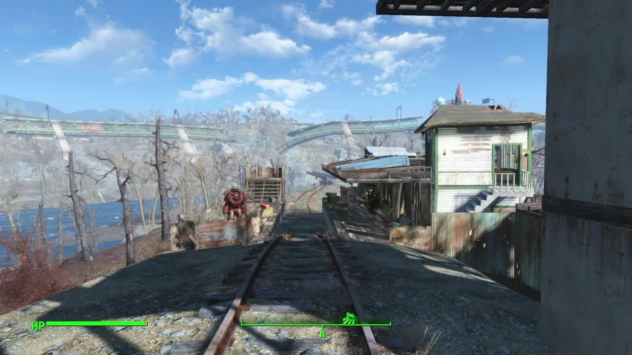 Ps4 Fallout 4 Oberland Station Fallout Settlement Train Station Station