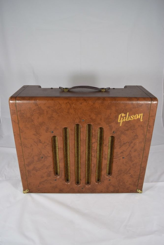 vintage 1950 39 s gibson ga 75 jazz guitar tube amplifier brown rare amp in 2019 amps jazz. Black Bedroom Furniture Sets. Home Design Ideas
