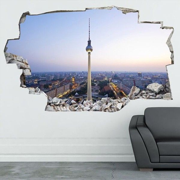 3d vinyl wandsticker berlin geschenkideen pinterest vinyl wandsticker wandsticker und vinyl. Black Bedroom Furniture Sets. Home Design Ideas