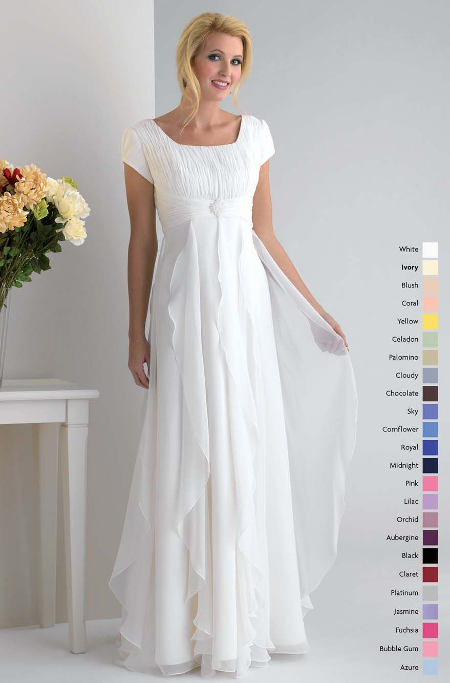 Modest short sleeves empire waist chiffon discount bridesmaid modest short sleeves empire waist chiffon discount bridesmaid dress wh381 wh381 us7200 ombrellifo Image collections