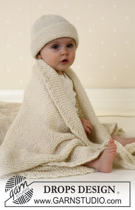 Hat and blanket in Alpaca ~ DROPS Design   Baby Blankets - Knitting ...
