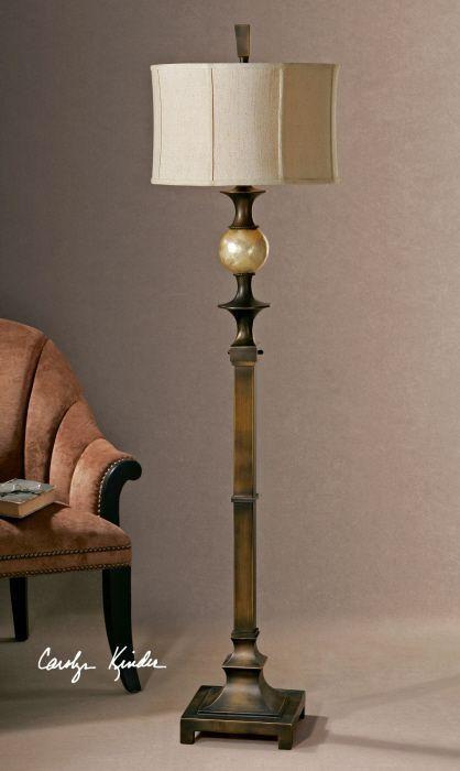 Capiz Shell Classic Floor Lamp Dark Bronze Floor Lamp Bronze