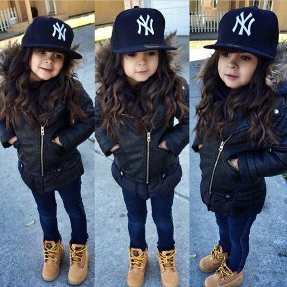 Cute Kids Wearing Timberland Shoes