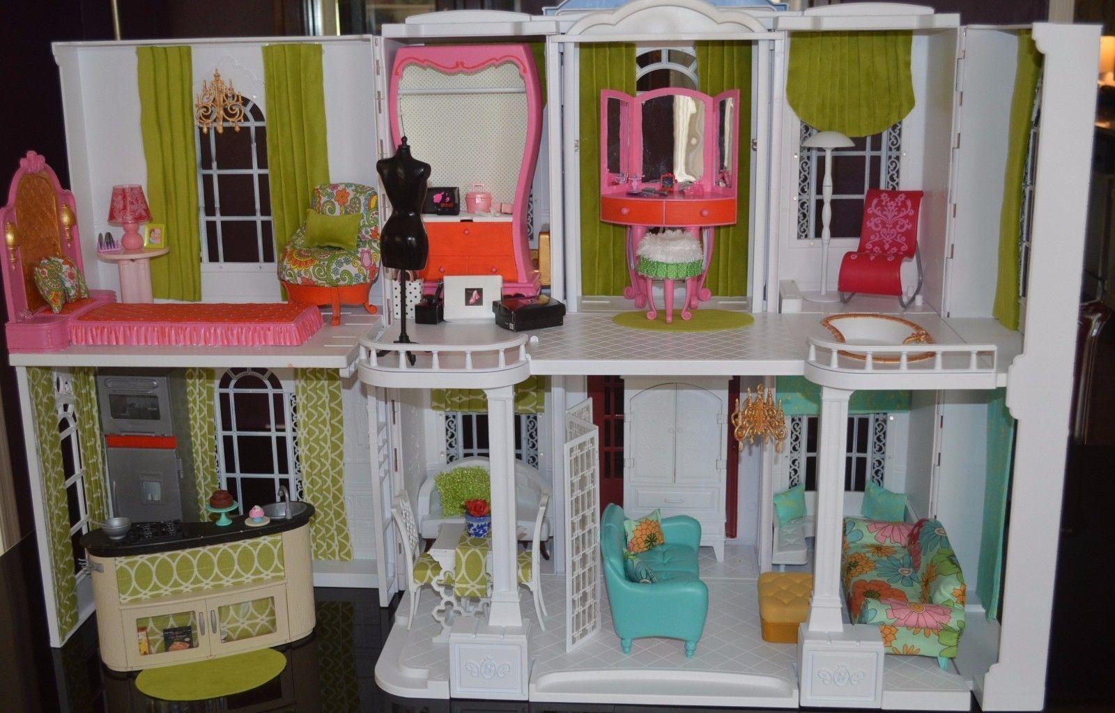 Ooak Barbie Dollhouse Mansion Furnished Barbie Grand Hotel Remake