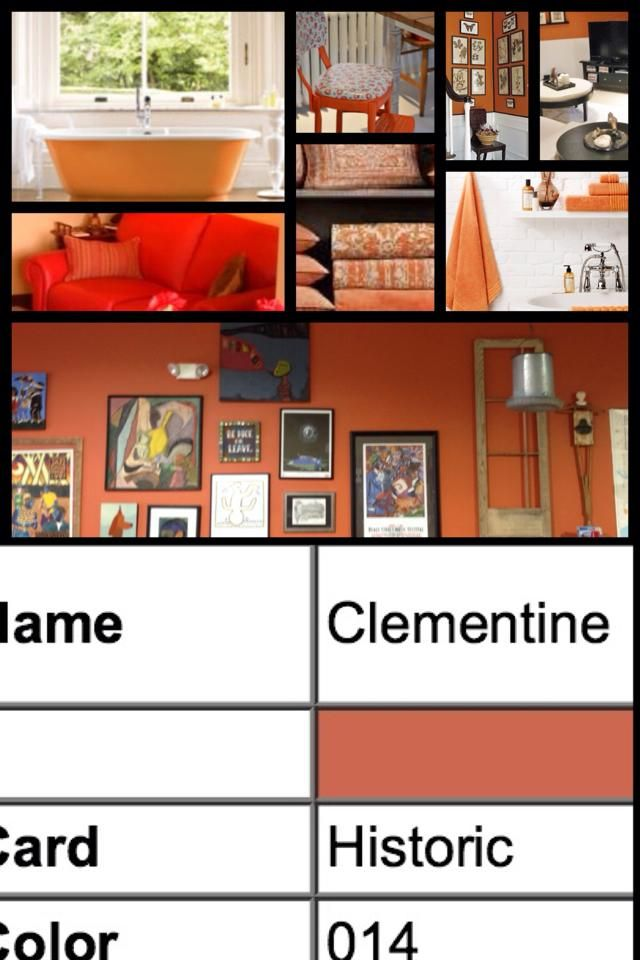 Clementine- Historic Colors of America- Farrell Calhoun Paint ...