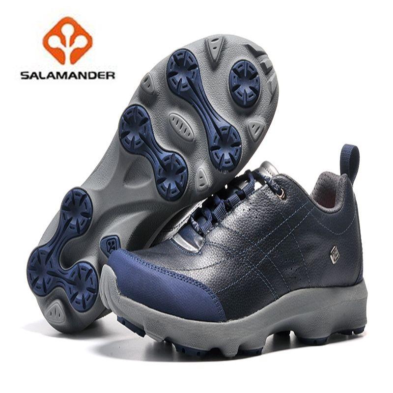 2017 NO35 sport walking shoes Original salamander Genuine Leather Sport  walking Shoes for Men outdoor sport 59e1f7a3eb07