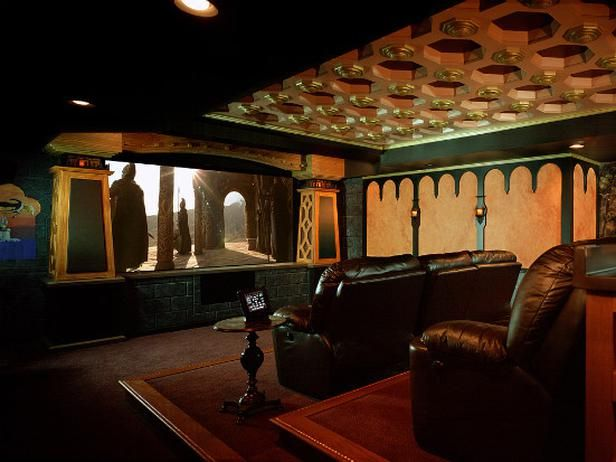Lord of the Rings Themed Home Theater | HGTVRemodels.com ... Themed Home Theater Design Ideas on bedroom design ideas, affordable home ideas, camera design ideas, media room design ideas, education design ideas, security design ideas, surround sound design ideas, home entertainment, home audio design ideas, pool table design ideas, wine cellar design ideas, speaker design ideas, school classroom design ideas, family room design ideas, bar design ideas, home cinema, nyc art studio design ideas, two-story great room design ideas, whole house design ideas, internet design ideas,