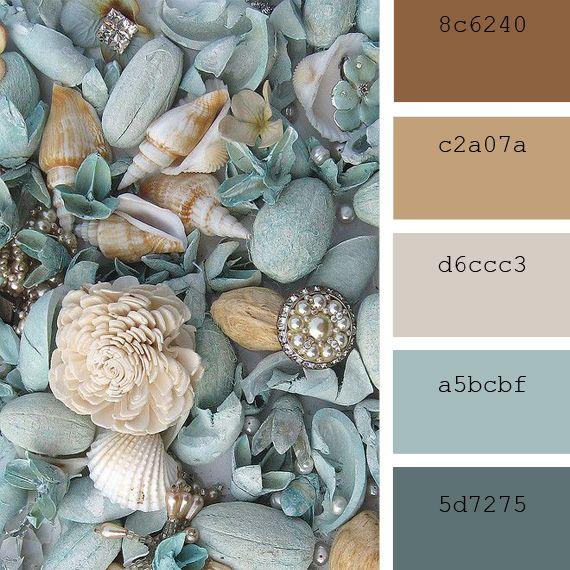 Paletas de color: tonos costeros