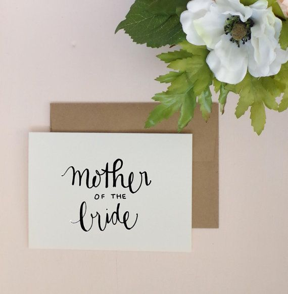 Mother Of The Bride Greeting Card Wedding By Thepolkadottedbee