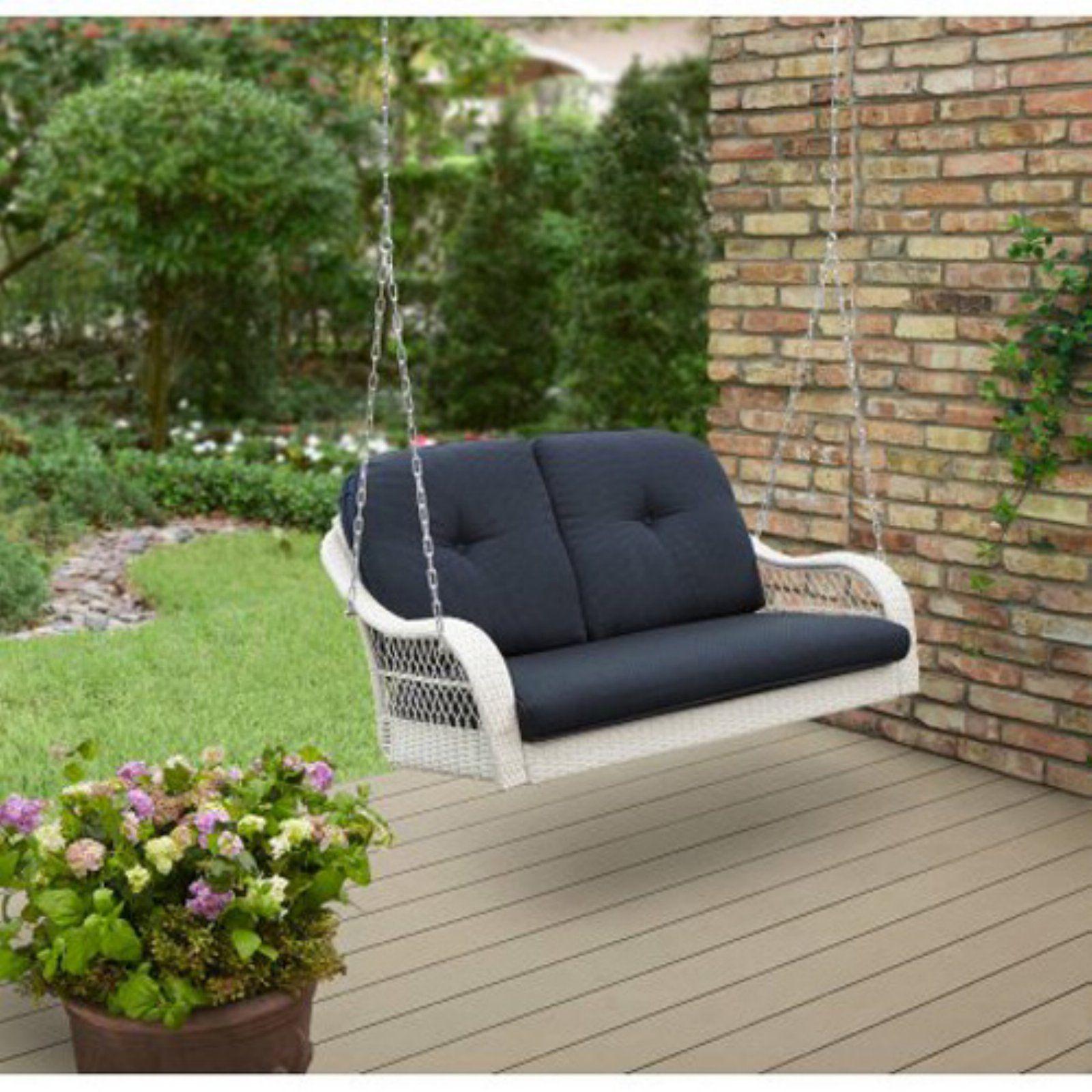 Better Homes Gardens Azalea Ridge Wicker Outdoor Swing With