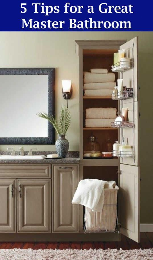 Master Bathroom Ideas – Five Tips for a Great Master Bathroom | Bathroom Remodel #restroomremodel