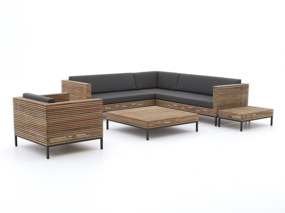 Modernes Ecklounge-Set aus Teakholz in einem einzigartigen Design ...