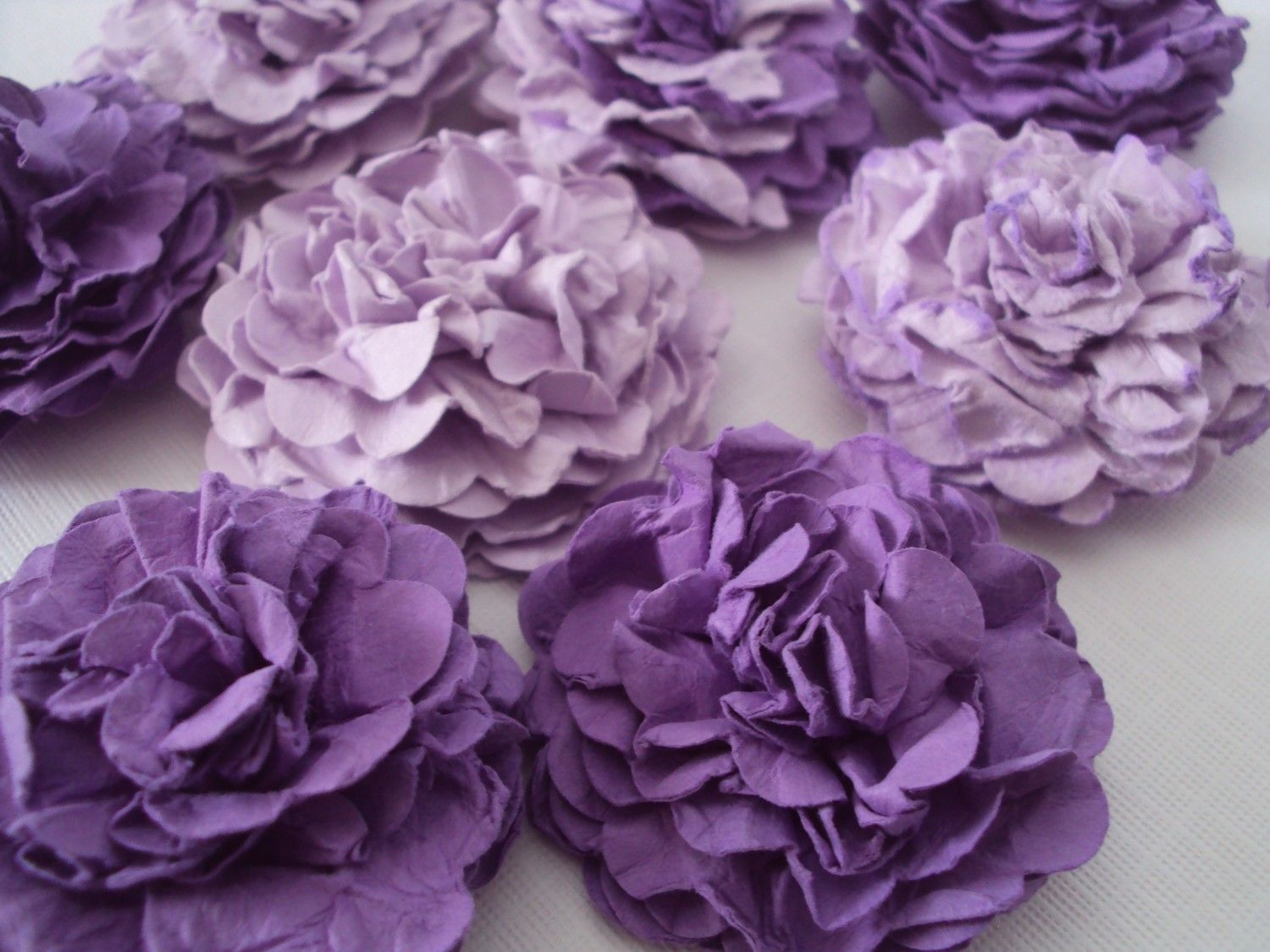 Purple carnations paper flowers embellishments for crafts purple carnations paper flowers embellishments for crafts scrapbooking cardmaking aceos atcs collage altered art paper flowers 999 via etsy mightylinksfo