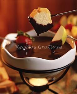 Receta de FONDUE DE CHOCOLATE