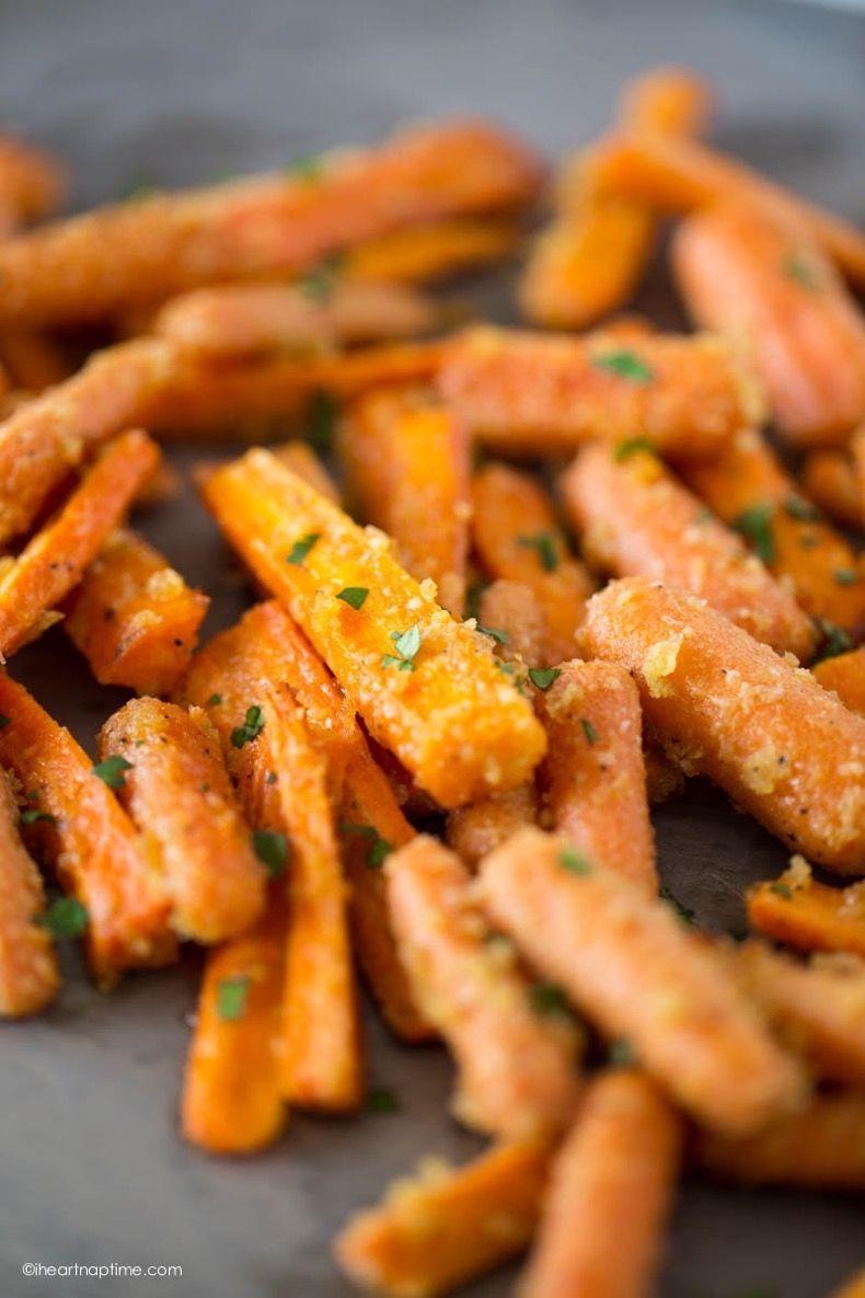 Palitos De Zanahorias Asadas Con Queso Parmesano: Un Snack Saludable Y Fácil De Preparar