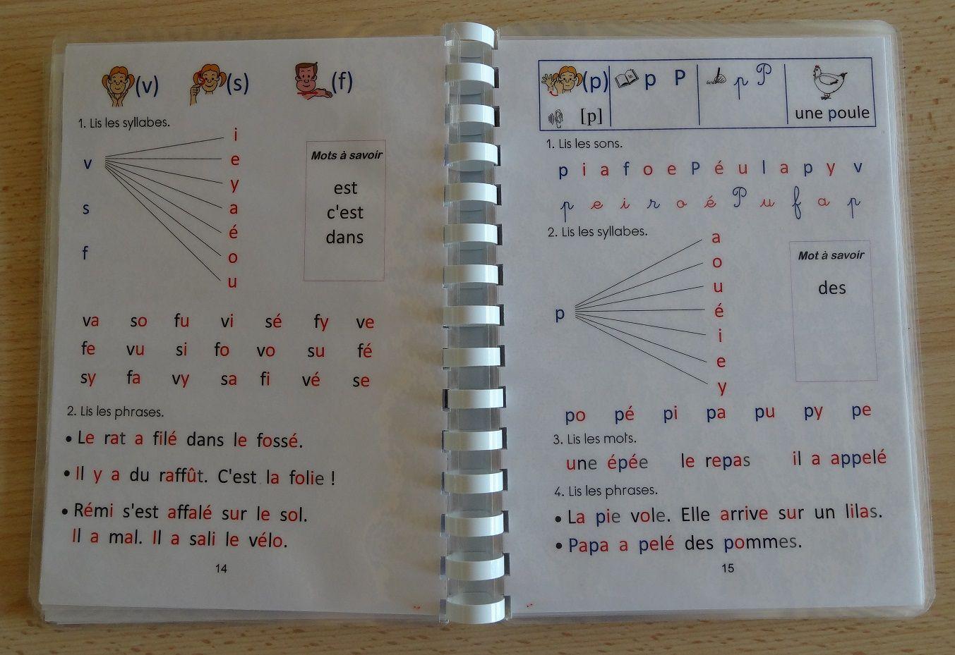 Livrets d 39 apprentissage de la lecture au cp supports type for Apprendre les livrets