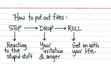 Extinguishing yourself...change some of the wording