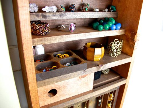 Jewelry organizer jewelry storage Jewelry cabinet by TANGLeAndFoLd, $340.00
