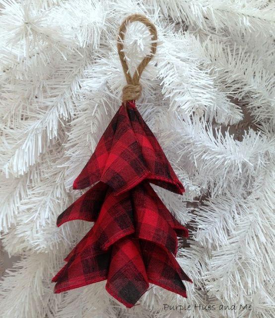 Buffalo Plaid Ribbon Tree Ornament DIY