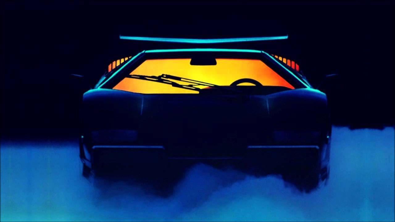 Lamborghini Countach Electro Retro Neon Outrun Synthwave In