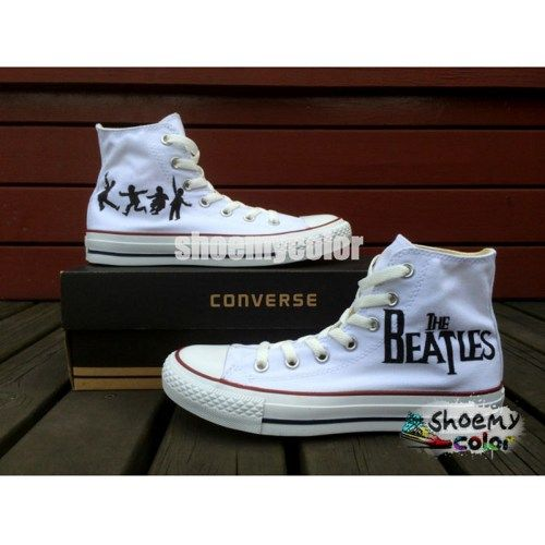 The Beatles Converse Shoes Hand Painted High Top Shoes