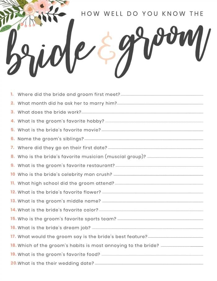 graphic regarding Printable Bridal Shower Games identified as Cost-free Printable Bridal Shower Surprise Recreation My Small children
