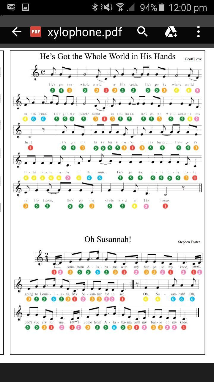 Xylophone Songs Kids Xylophone Xylophone Sheet Music