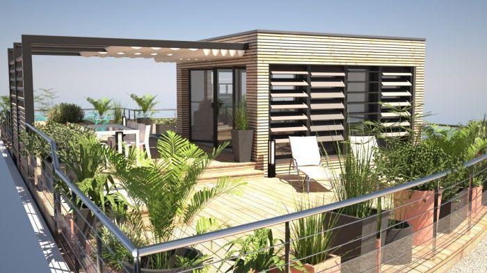 Aménagement dune toiture terrasse avec surélévation à ossature bois en