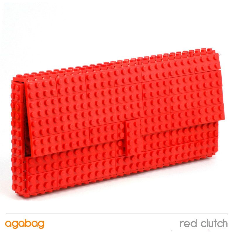 fa7e1588df Red clutch made entirely of LEGO bricks by agabag on Etsy, $140.00 ...
