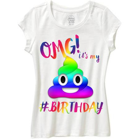 Rainbow POOP EMOJI Omg Its My Birthday By WishesandkissesCo