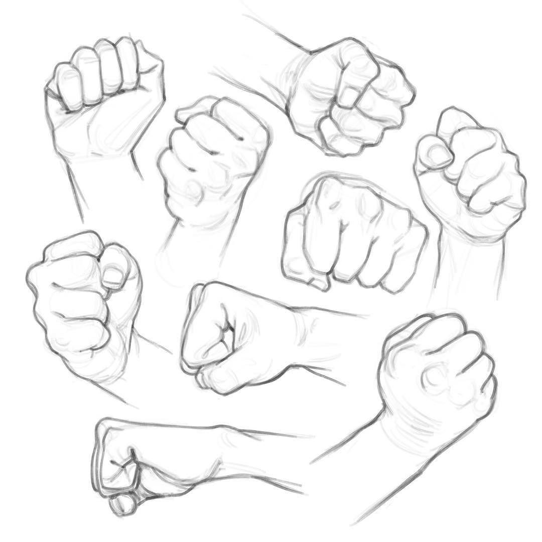 313 likes 0 comments andrew bosley andrewbosley on instagram fists of fury evening studies practice sketch drawing art hands illustration