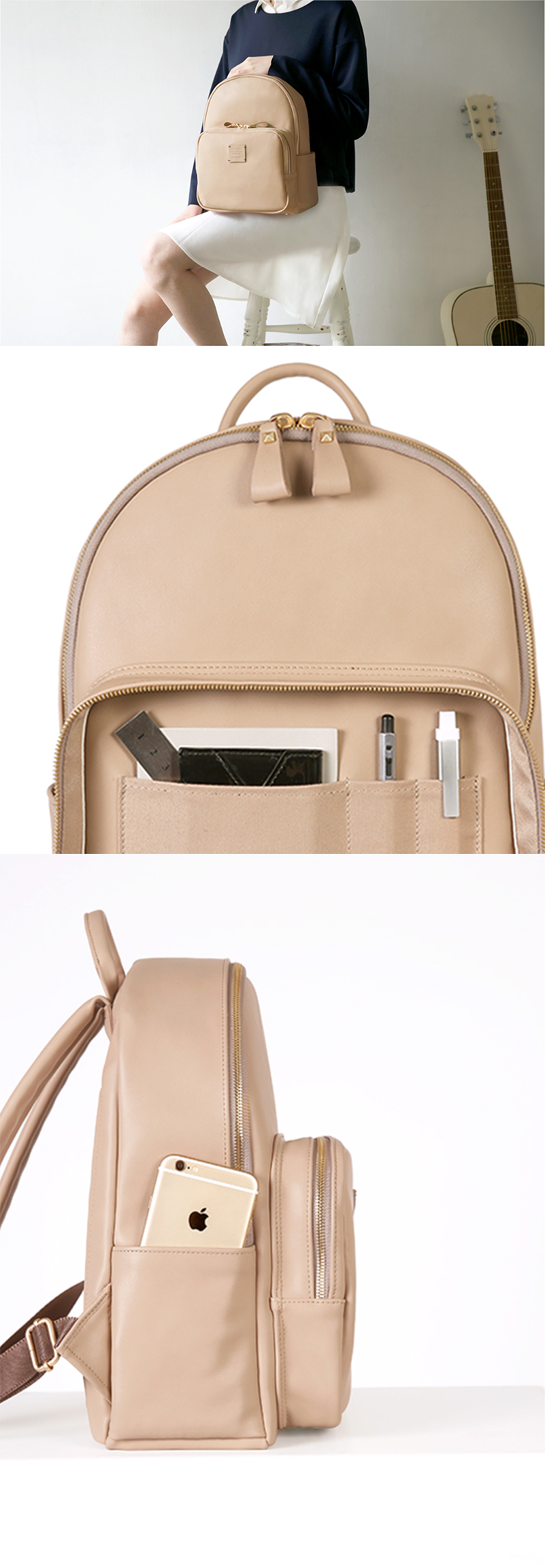 Take your style to the next level with the beautiful and timeless Square Mini Office Leather Backpack!