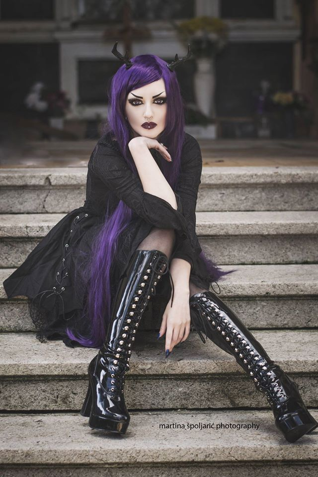 Model: Obsidian KerttuBlouse and skirt: Punkrave from The Gothic ShopAntlers: Hysteria MachineLenses: SPECIALLENS™ Cosmetic Lens CenterWig: UniqsoPhoto: Martina Špoljarić photography