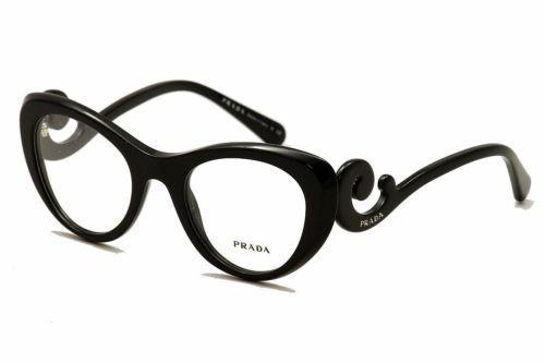 bcb246692f9 Prada Eyeglasses VPR06Q VPR 06Q 1AB 1O1 Shiny Black Full Rim Optical Frame  51mm