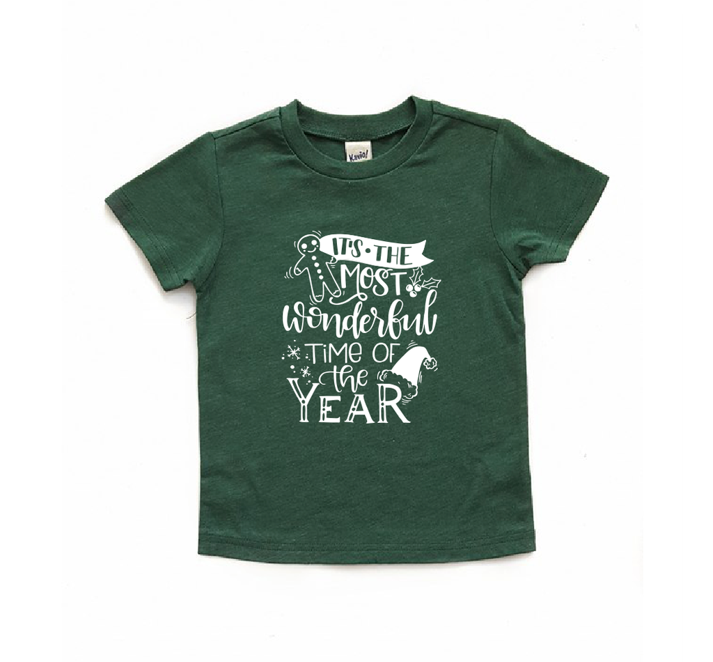 Kids Christmas shirt - most wonderful time of the year | Holiday ...